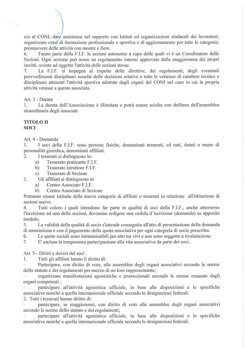 Statuto FIF 2016 2