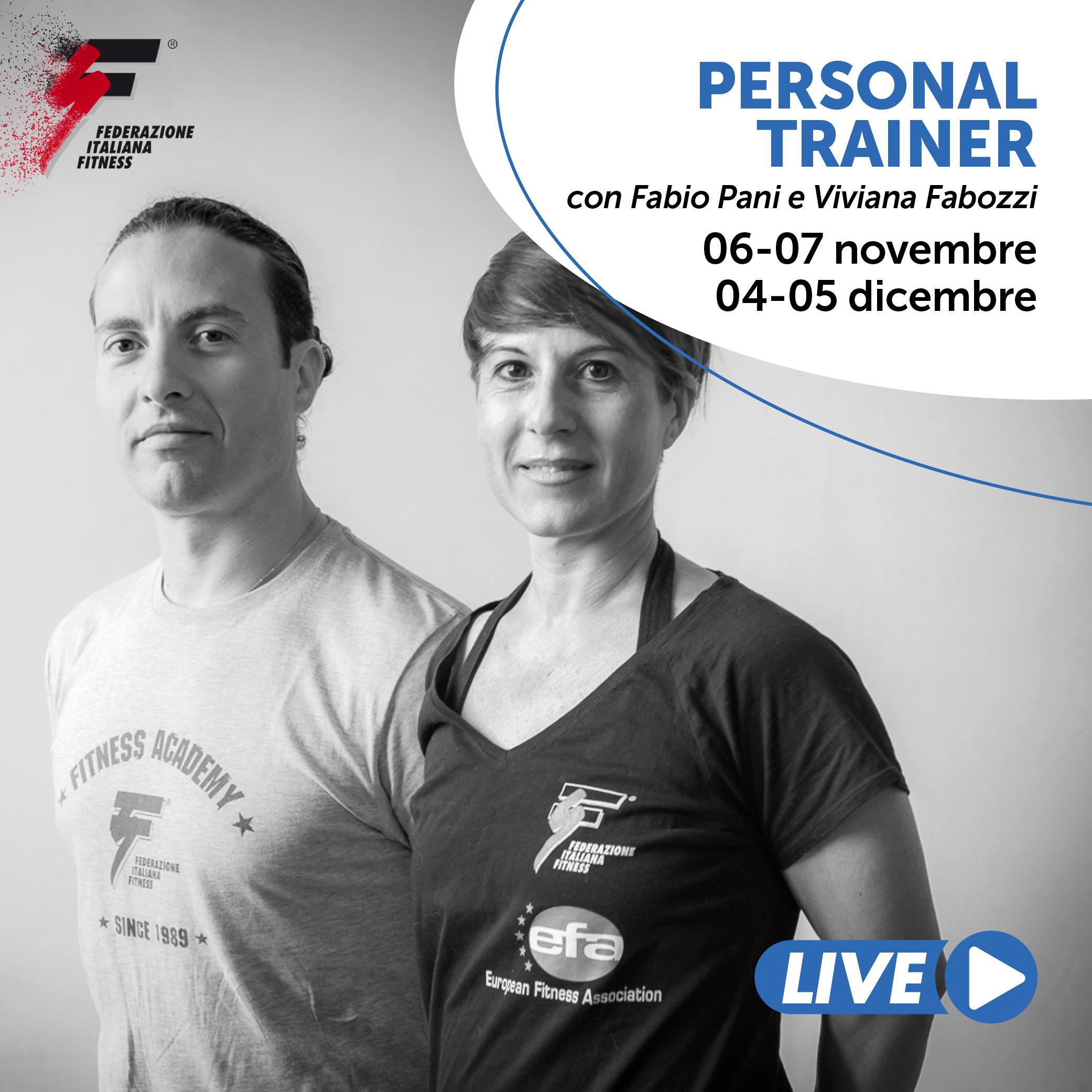 PERSONAL TRAINER/Corso live