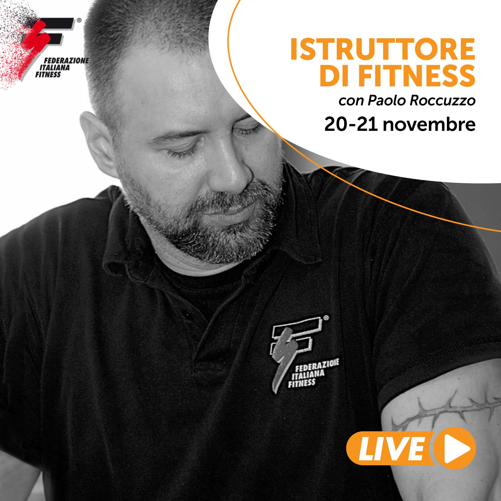 ISTRUTTORE DI FITNESS/Corso live