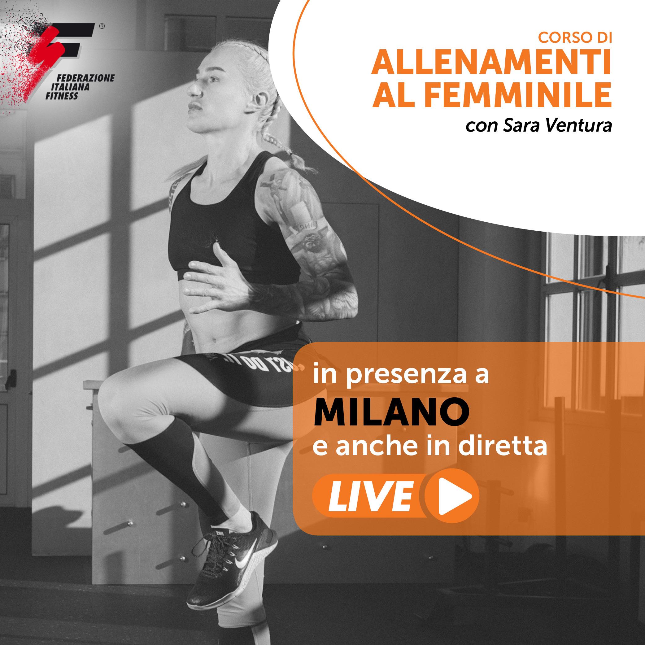ALLENAMENTI AL FEMMINILE con Sara Ventura /Corso Live