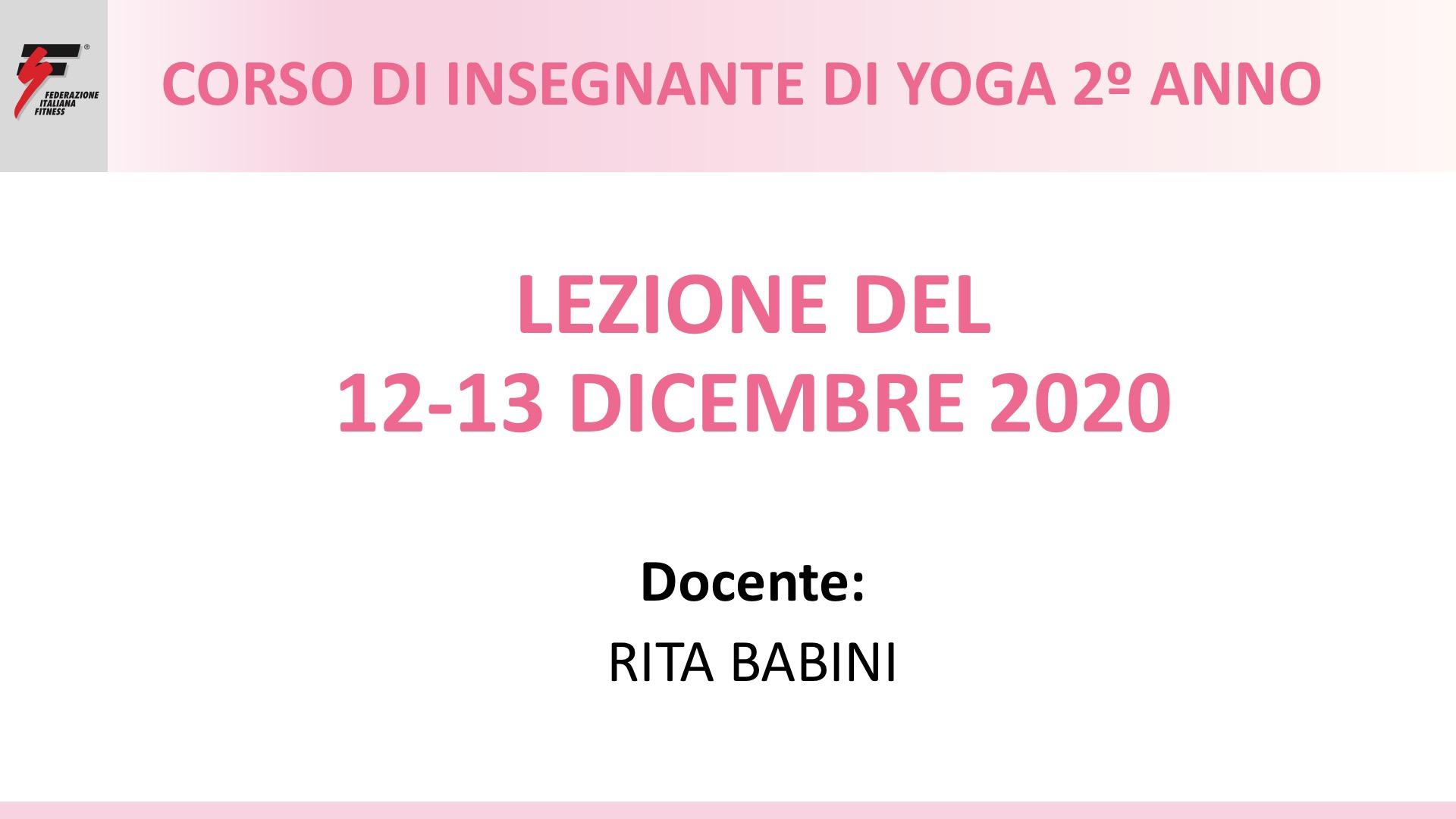 yoga 2º anno babini